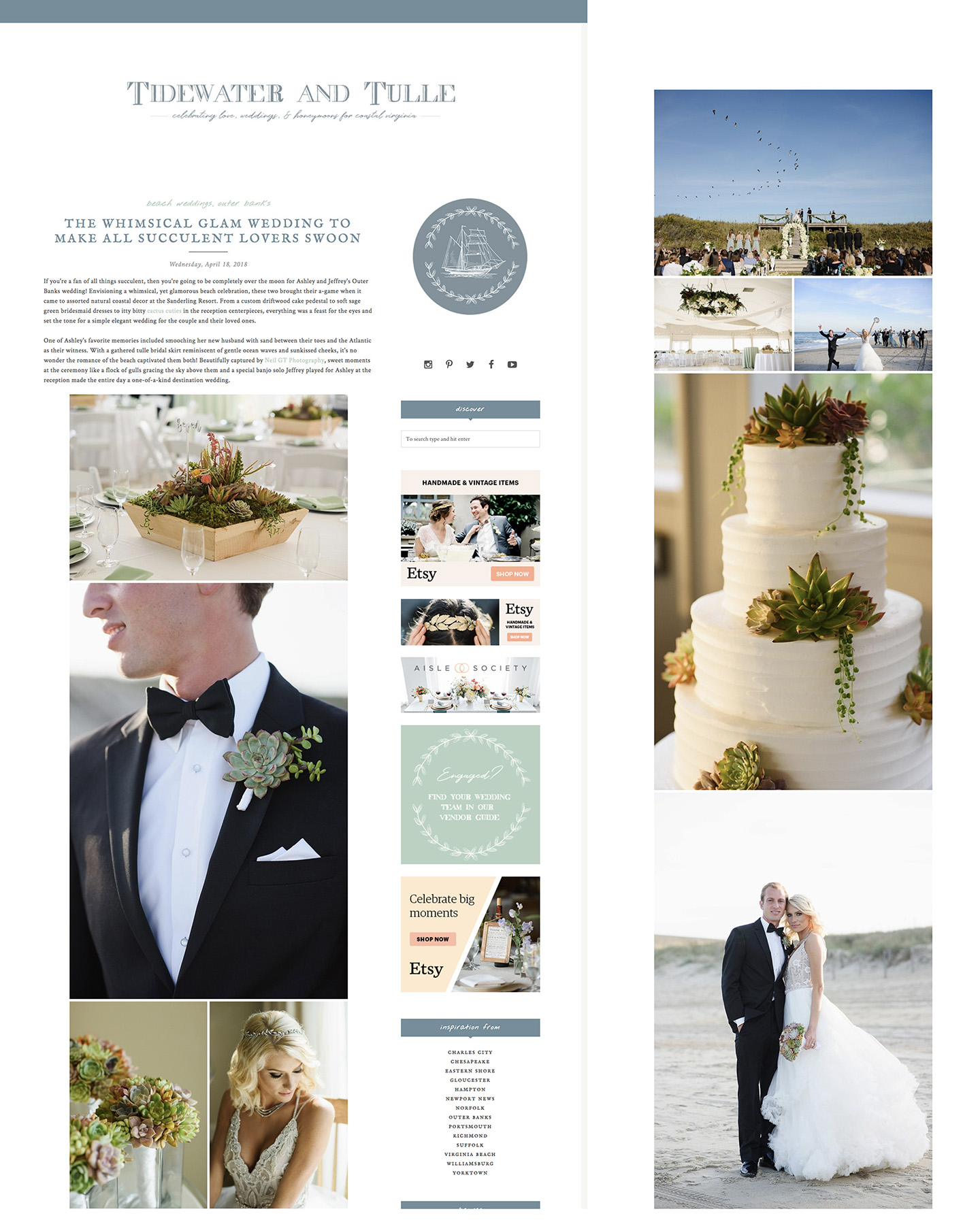 Featured on Tidewater and Tulle » Neil GT Photography
